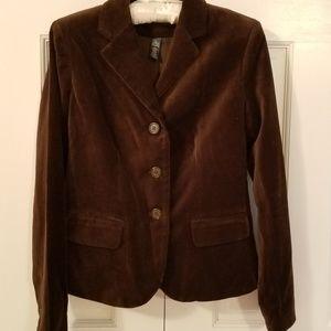 Ralph Lauren deep brown velvet blazer size 4